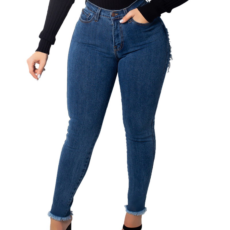 Sexy Ripped For Women Destroyed Back Hole Woman High Waist Butt Lift Stretch Ripped Skinny Jeans Big Women's Jeans Women's Clothing Butt Den
