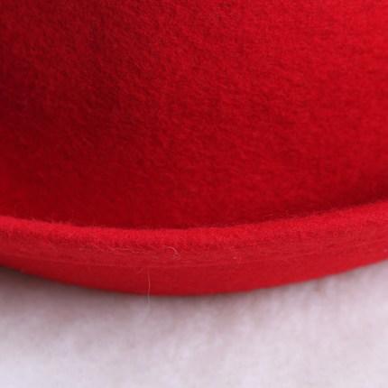 9 Цвет Уход Шляпы фетровой шляпы Урожая девушка дети Caps Шляпа Аксессуары Fedora Вводной Feutre Bowler Derby fieltro Solid Cappello Bombetta