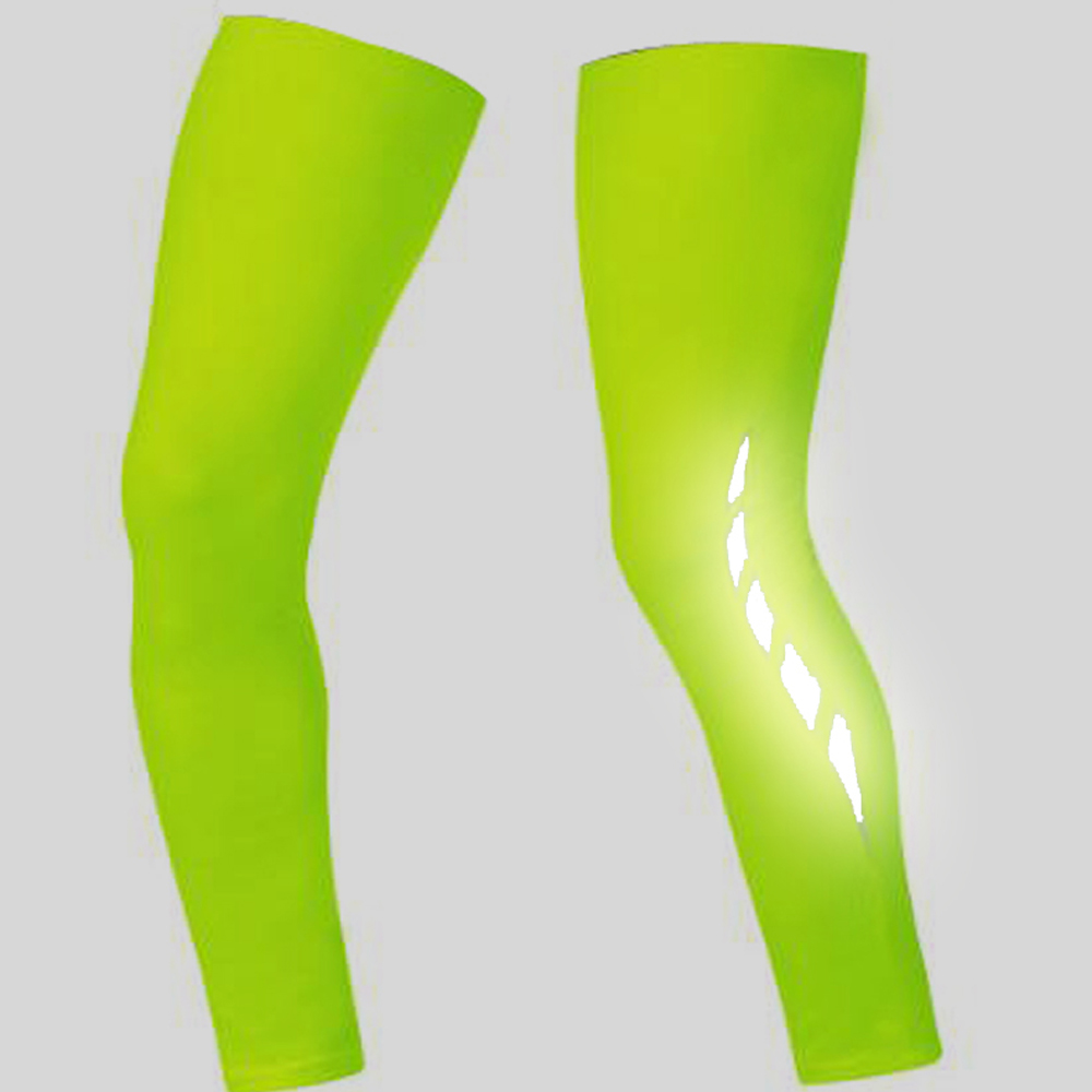 Racmmer 2020 Men Flashlight Leg Warmers Bike Bicycle Knee Warmer Leg Sleeve Perneras Ciclismo Outdoor Uv Protection Cycling Protective Gear