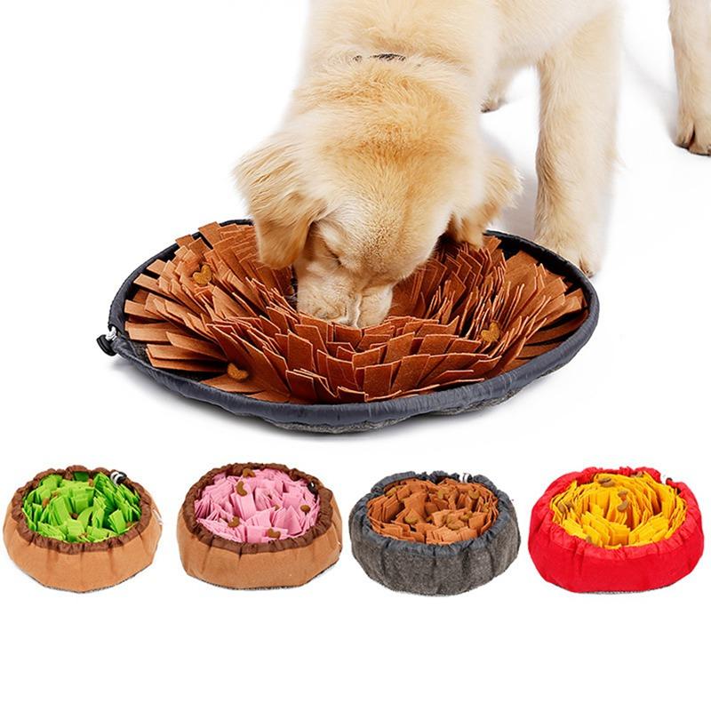 Pet Feltro Panno perdite alimentari Anti Soffocamento Bowl Mat Dog Training Smell alimentazione Pad animali Rallentamento Dog Supplies mangiatoia per animali domestici Intelligenza Ma