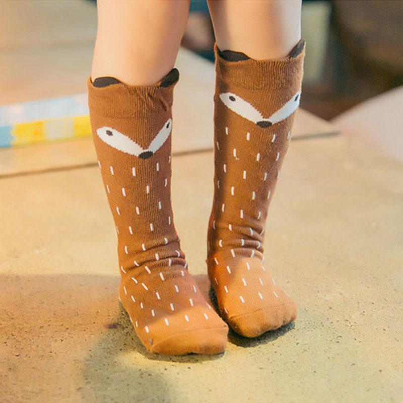 2019 venta caliente otoño invierno lindo rodilla niños de dibujos animados para niños Ropa de las muchachas del tubo largo aceptan niños calcetines de bebé calcetines