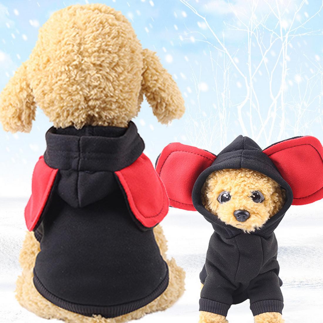 Pet Hoodie источники питания Источники питания Одежда для собак Большие Уши Одежда для собак Для маленьких собак Soft Winter Осень Чихуахуа Одежда Pet Outfit