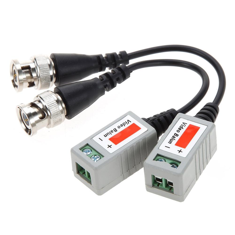 6 Çiftler Kablolar Oyun Aksesuarları 12 parçadan Mini CCTV BNC Video Balun Telsiz Kablo BlackSilver 6 Çiftler Kablolar Oyun Aksesuarları 12 parçadan Mini C
