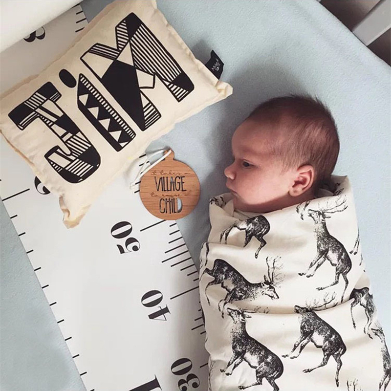 Hölzerne Wandbehang Kidsative Wachstum Charts Wandaufkleber für Kinderzimmer Dekoration Höhe Measure Andere Wohnkultur Dcor Ruler Baby-growt