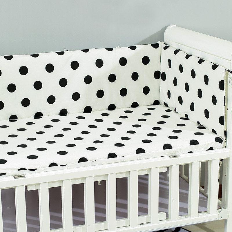 190x30cm Baby Bed Crib Bumper U-Shaped Detachable Zipper Cotty Baby Safety & Gearton Newborn Bumpers Infant Safe Fence Line bebe Cot