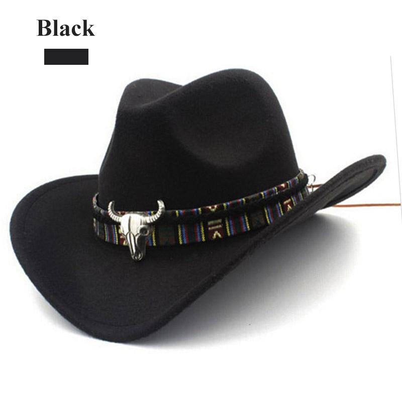 2019 Ethnic Style Western Cowboy MenWomens Wool Hat Hunting Caps Western Cowboy Hat New Caps & Hats Accessories Arrival