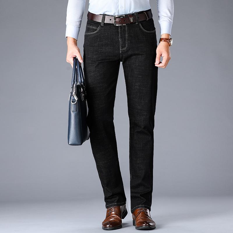 2020 New Fashion Business en denim extensible style classique Mens Regular Fit Jeans Stragith Jean Pantalons Homme Pantalons Bleu et Black Jeans M