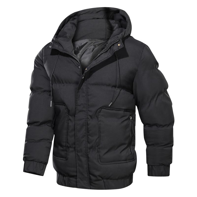 2020 2020 New Winter Jacket Parkas Men Solid Hooded Mens ...