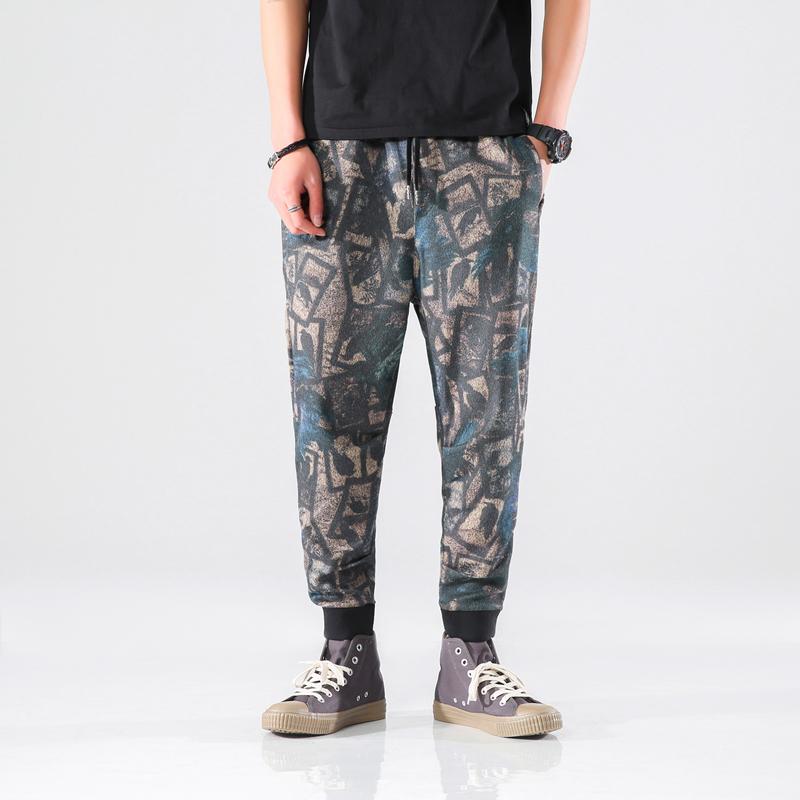 2019 Новое высокое качество Мужские брюки Мужская одежда Тощий Streetwear Joggers Hip Hop CargoTactical Камуфляж Гарем Мужчины Мода