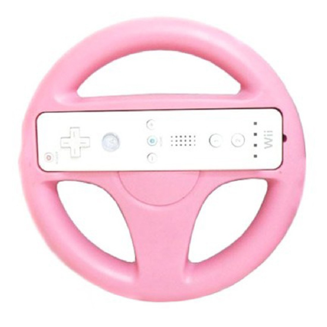 Hot Sale New Fashion Steering Wheel Other Accessories Game Accessories For Nintendo Wii Remote Controller Racing Games Pink