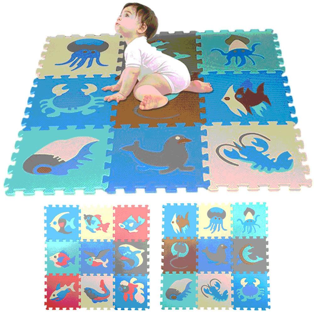 9 PC-Set Bunte Alphabet Zahlen Getriebe Sicherheits-Gang EVA Boden-Spiel-Matte Baby-Spielmatte Baby-Raum-Foam Puzzle Aktivität MATS