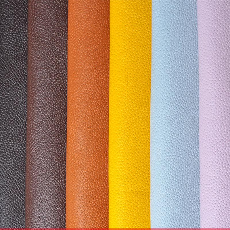 50138 centímetros de couro sintético Vestuário Tecido lichia PU Tecido Artificial couro do falso Tecidos DIY Bag Sofá Decoração de costura de materiais