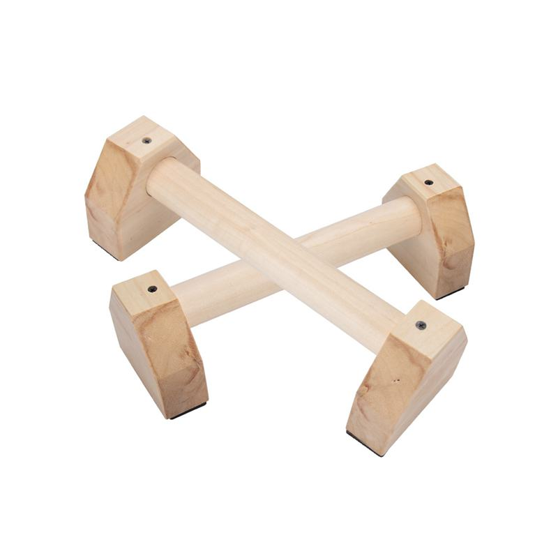 1 Pair Wooden Sport Push Up Stands Fitness Equipments Fitness Supplies Pushup Bars Gym Exercise Training Chest Bar Hand Grip Trainer For Bod