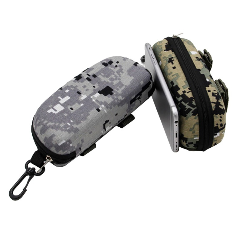 EVA Portable Sunglasses Box and Camping Camping & Hiking Storage Protector Camouflage Tactical Molle Goggle Glasses Case EDC Accessory Bag H
