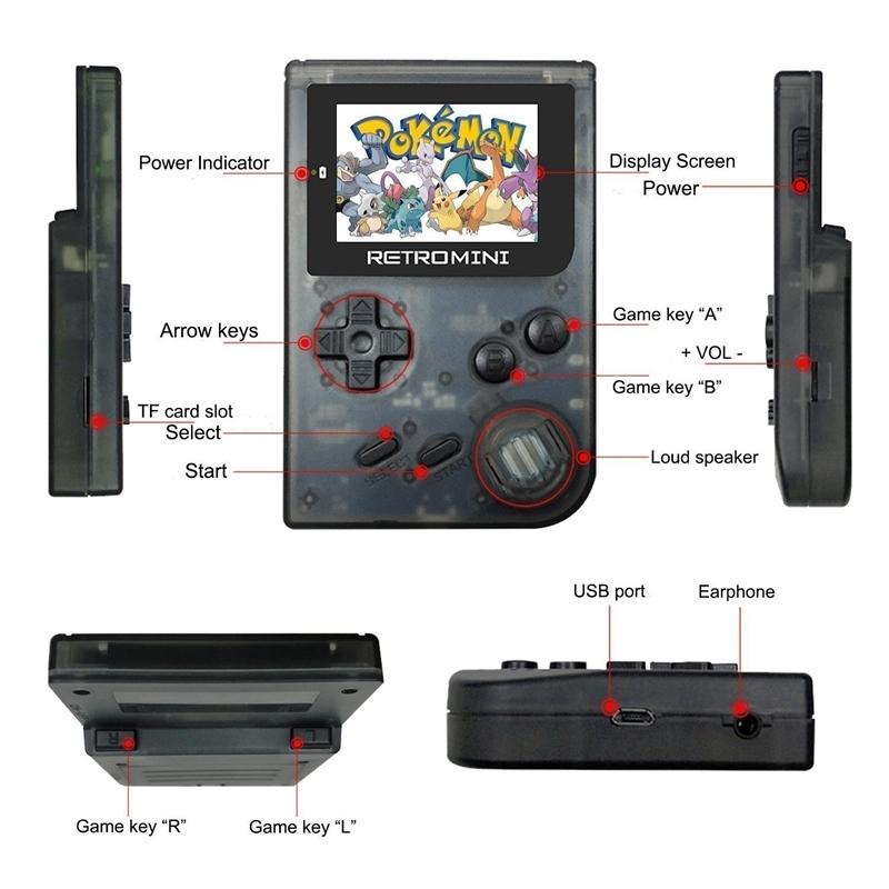 Console retro 32 Bit players portáteis Mini Handheld Jogo Builtin 40 para o anfitrião nostálgico jogador do jogo nostálgico GBA jogos clássicos melhor para o presente