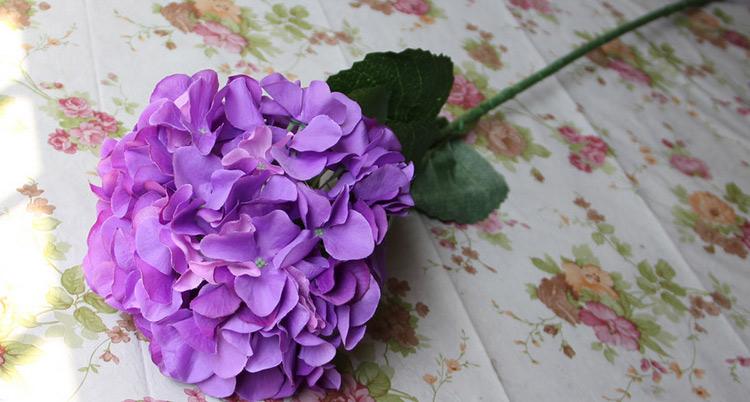 Silk hydrangea flower ball decorateive flower real touch artificial flowers good quality for wedding garden market decoration