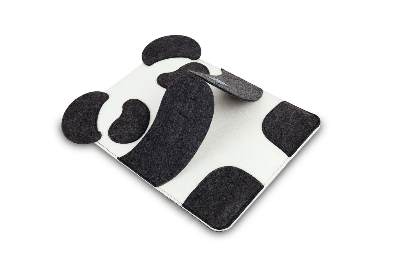 Cartoon panda felt laptop bag 13/14 inch notebook computer bag case drop shipping Can be customized adding logo