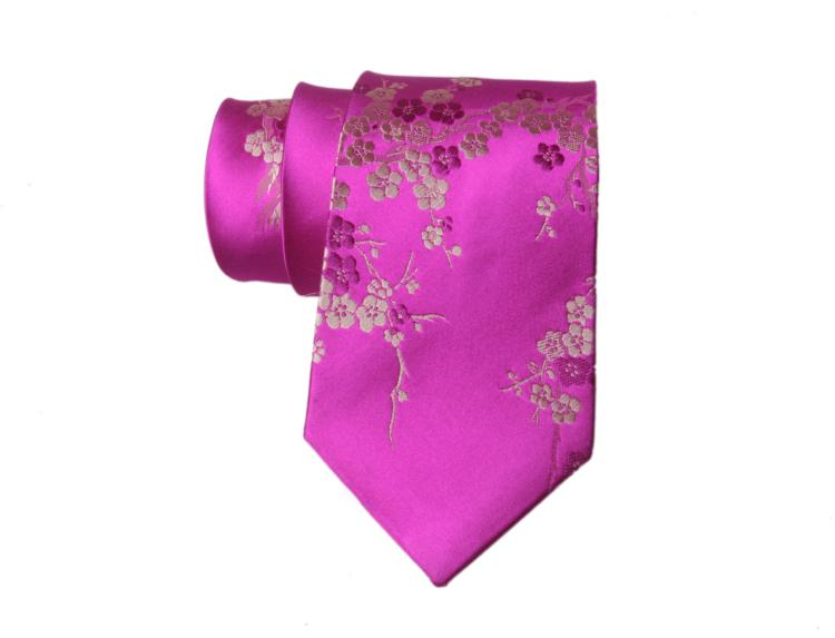 Latest Cherry blossoms Jacquard Ties High End Natural Mulberry Silk GENUINE SILK Brocade Men standard Fashion Neckties Business Gifts