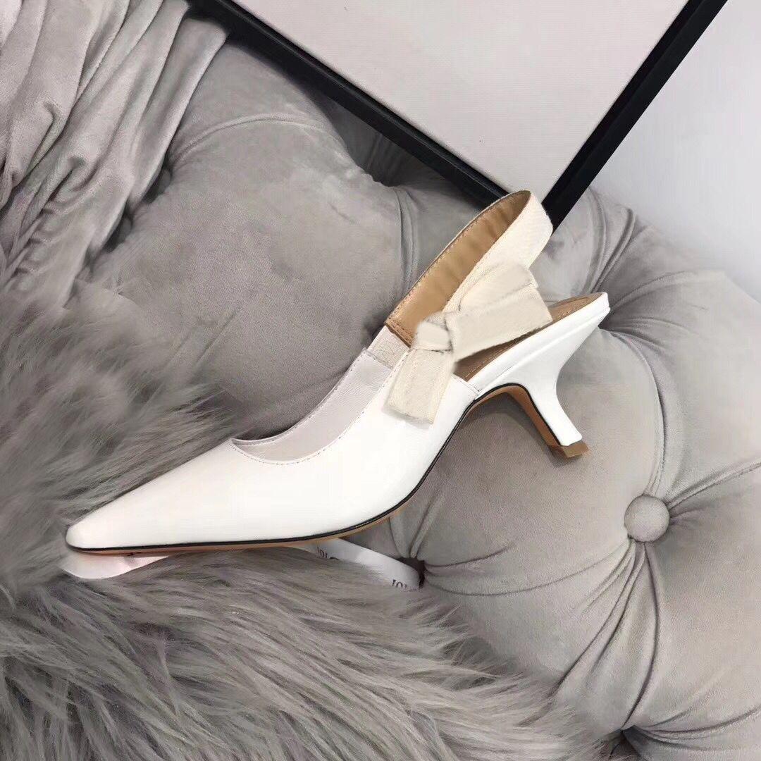 {Original Logo}Fashion High heeled sandals Gladiator Leather Pointed shoes sexy Designer luxury heel High heeled shoes Letter woman shoes 42