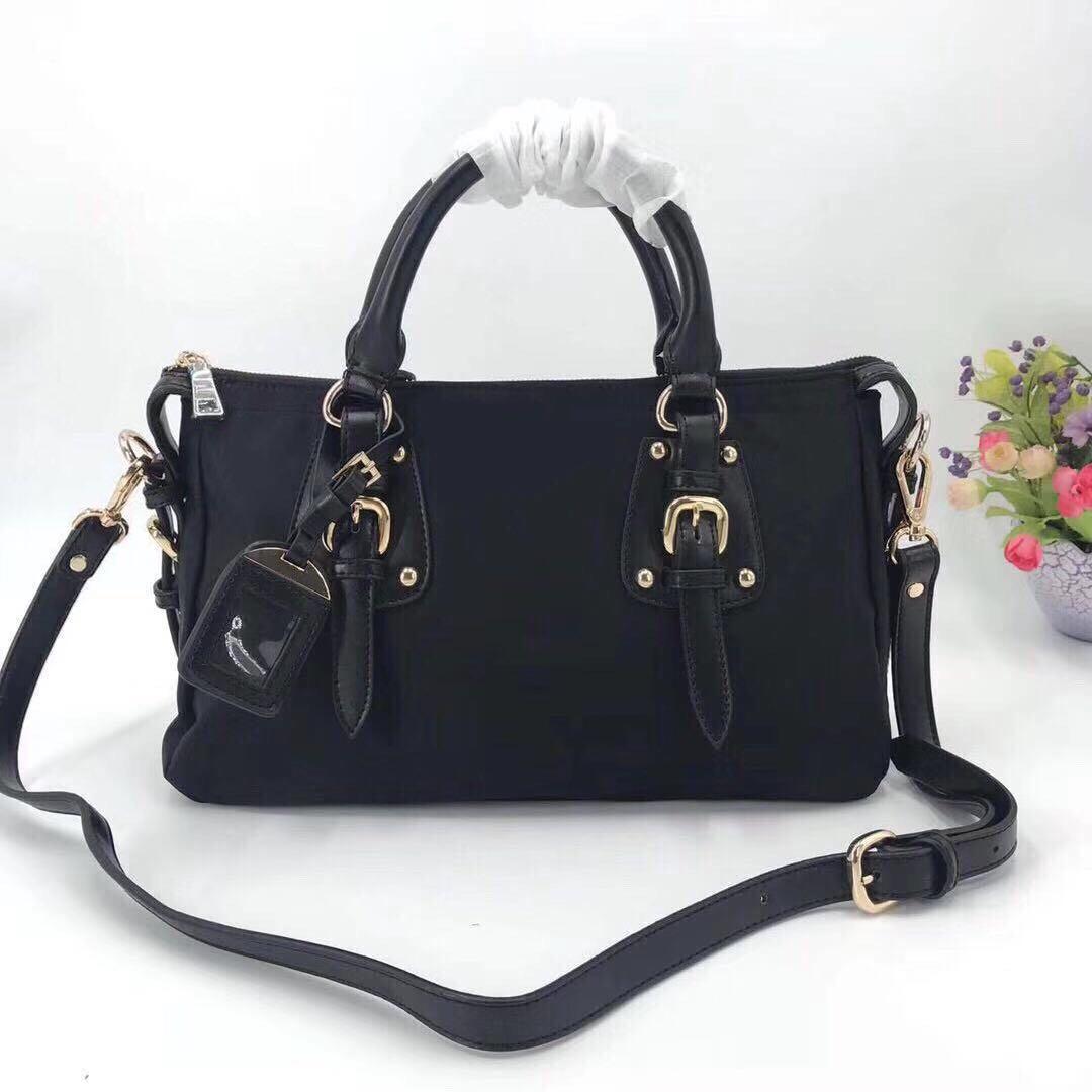 Wholesale new ladies canvas messenger bag female waterproof large-capacity shopping female bag cowhide leather handbag shoulder bag handbag