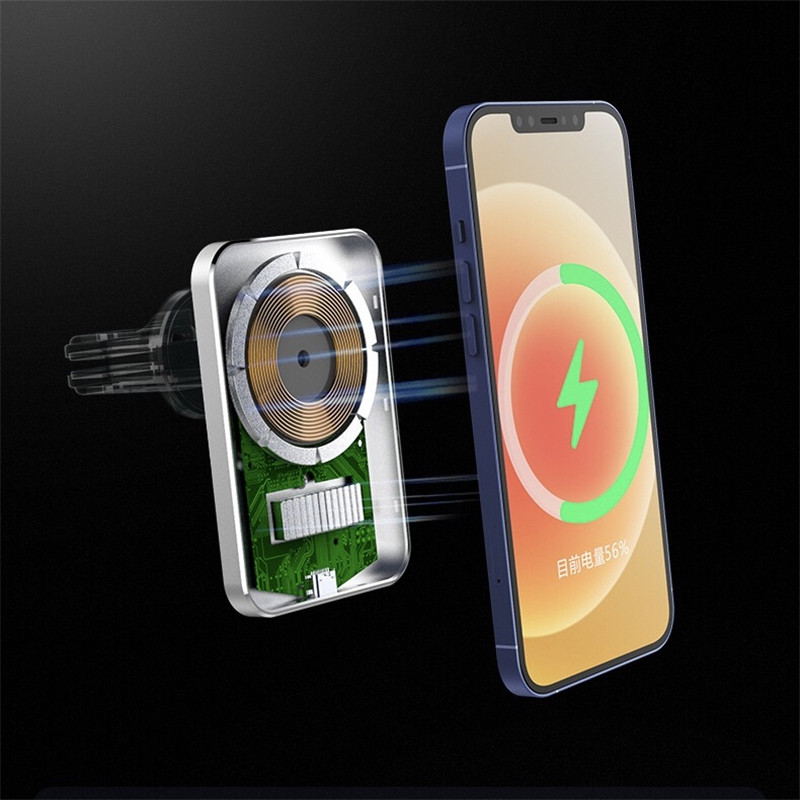 Magnetic Car Wireless Charger for iPhone 12 Pro Max iPhone 12 Mini 15W Fast Charging Car Holder with Retail Box