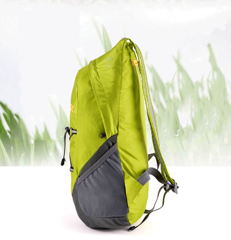 Unisex Men Women Fashion Sport Nylon Splashproof Foldable Skin Backpack for Climbing Mountaineering Hiking Camping Jogging Travel Laptop