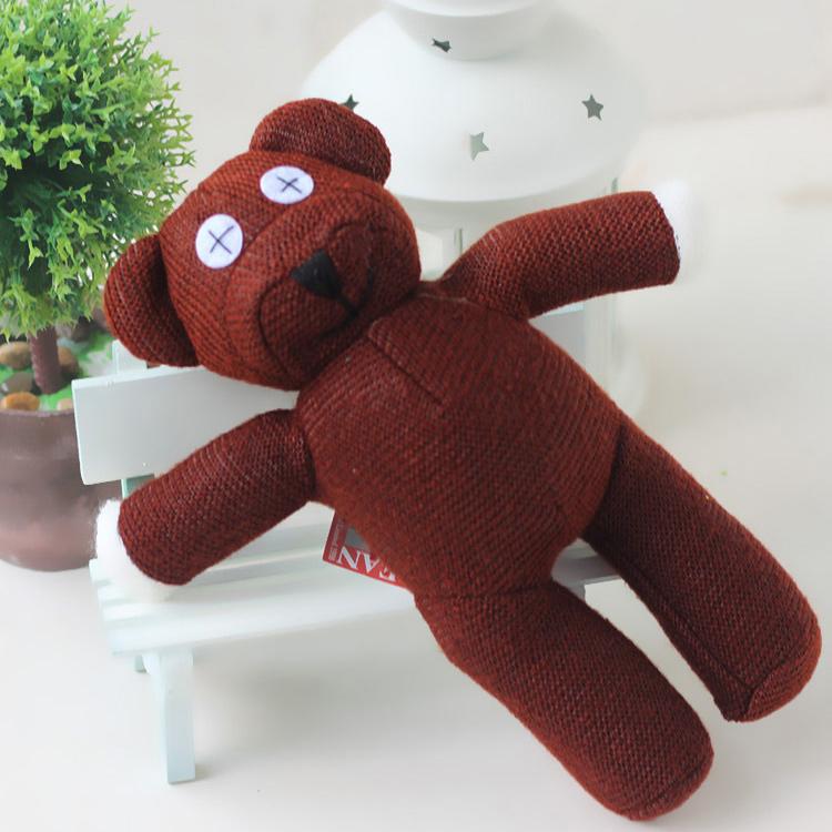 24CM Mr Bean Teddy Bear Animal Stuffed Plush Toy Brown Figure Doll Cute Small Teddy Bear Soft Grils Toy Kids Gift