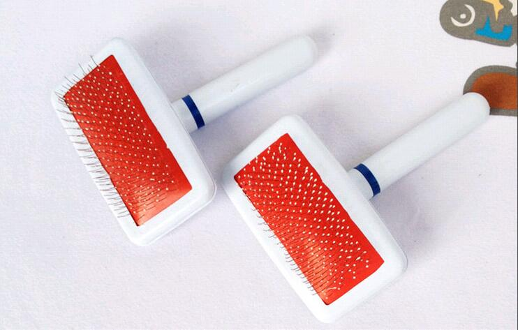 Pet Dog Cat Hair Brush Shedding Grooming Pin Hair Brush Combs clean tools small size HK77