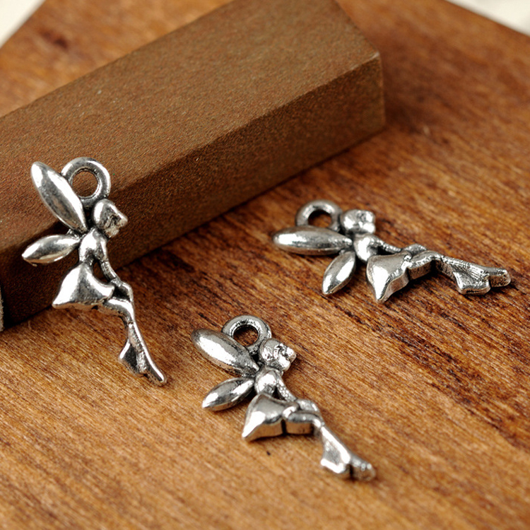 Tibetan Silver Angel Fairy Charms Pendant Fit Bracelet necklace Jewelry Findings Components