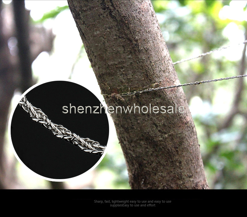 Sporting Gifts Silver Steel Wire Saw Scroll Saw Emergency Hiking Camping Hunting Outdoor Survival Tool