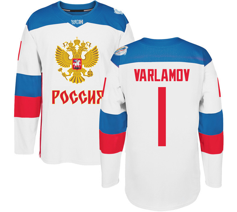 2016 World Cup Team Russia Men`s Hockey Jerseys 9 Orlov 7 Kulikov 1 Varlamov 92 Kuznetson WCH 100% Stitched Jersey Any Name and Number