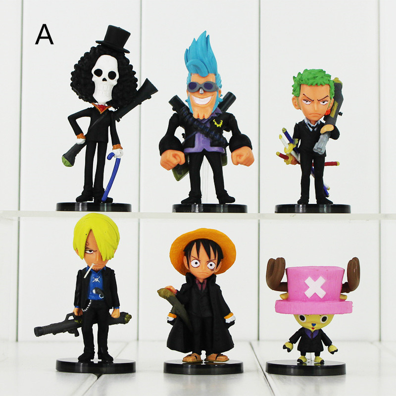 2 Styles Anime One Piece PVC Action Figure Collectable Model Toys for Kids Gift Retail