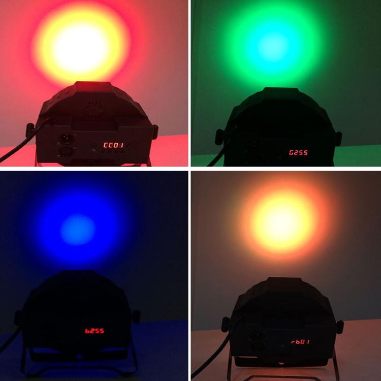 LED FlatPar 7x10 Watt Quad RGBW SlimPar Light - Remote Control - Up-Lighting - Stage Lights club lights moving