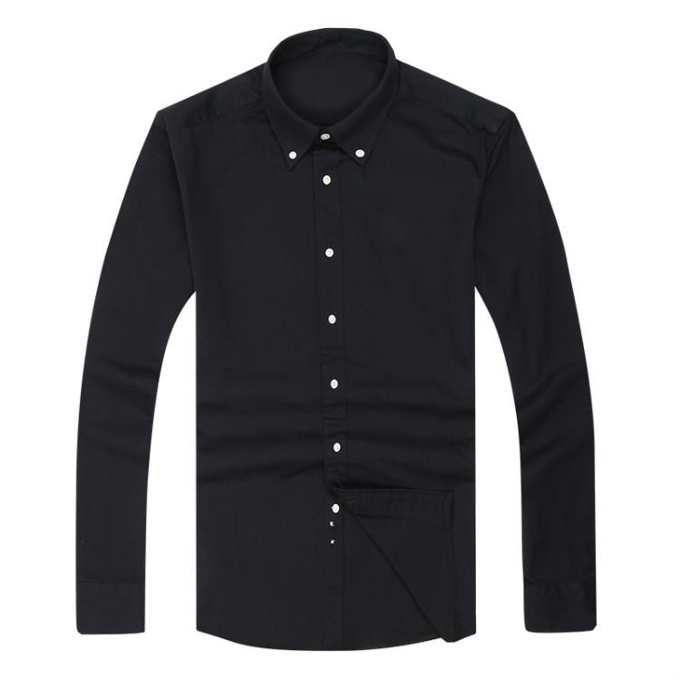2017 new Fall Men`s Long Sleeve Shirt Cotton Shirt Men`s polo Casual Solid Regular fit Men`s Shirts fashion