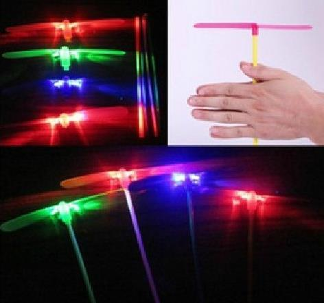 LED Flashing Flying Dragonfly Toy Plastic Helicopter Boomerang Children kids Party Christmas favors gift festive gift
