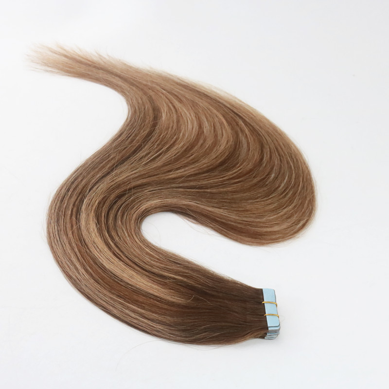 Balayage Color 4/27 Remy Hair Straight High Quality Best Selling PU Tape Hair 100G Bundle In Stock