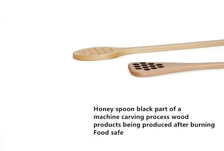 New Wooden Honey Coffee Spoons Long Mixing Spoon Bee Tools Honey Stirrer Muddler Stirring Stick Honey Dipper Wood Carving Stirring Spoons