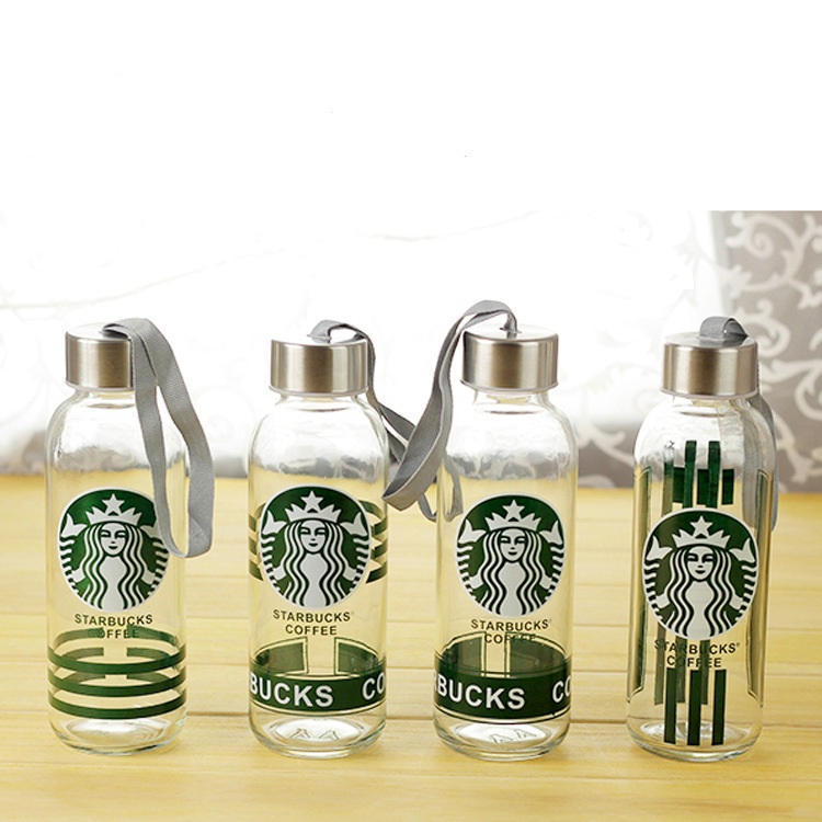 Hot Selling 300ml Portable leak-proof cup sports bottle glass water bottle with rope c cup Water Bottle J3059