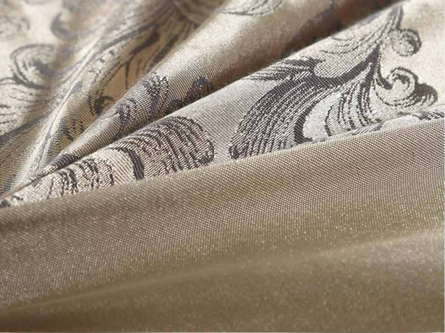 Gold silver coffee jacquard luxury bedding set queen/king size stain bed set 4/cotton silk lace duvet cover sets bedsheet home textile