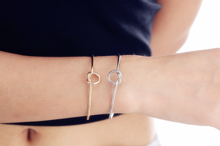 Europe and the United States jewelry simple wind bracelet personalized knot bangle bracelet tie bangle