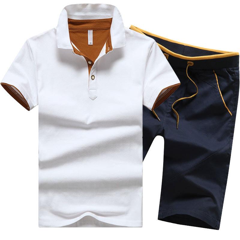 2017 New Fashion Men T Shirt & Men Shorts Set Summer Style Short Sleeve T-shirt Causal Male Set Tracksuit Man Brand Clothing