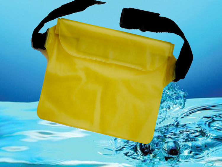 Multi-Purpose waterproof Storage Bag Seal waist Waterproof pocket pouch with waist strap ,Swimming Beach Bag b717