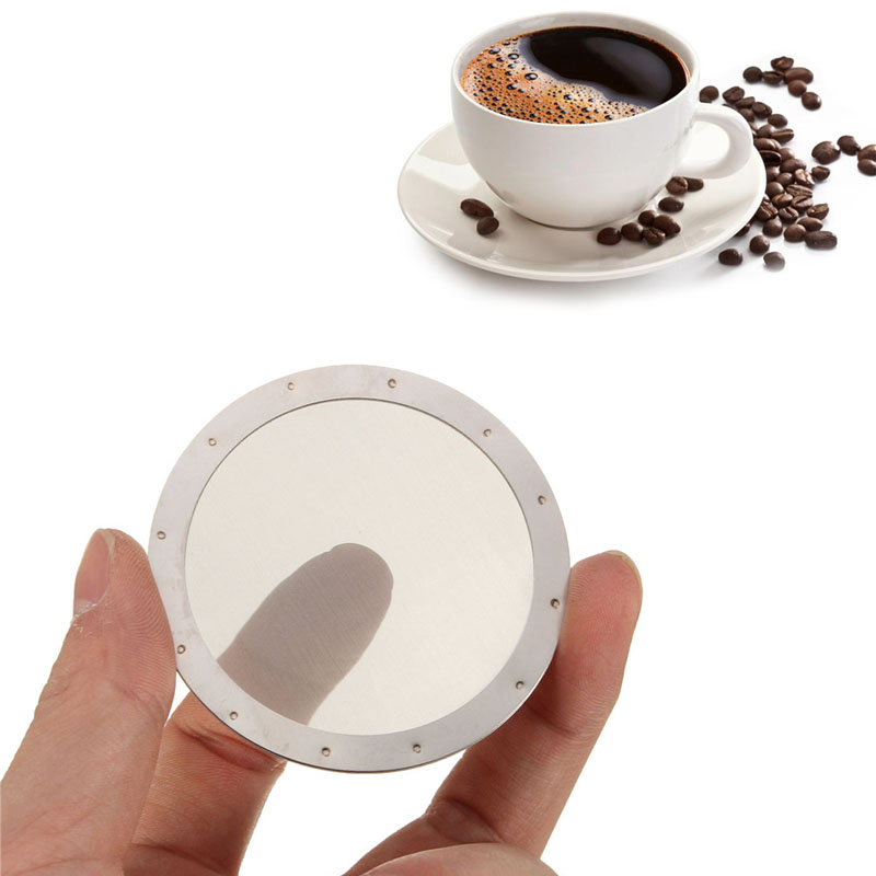 Solid Stainless Steel Reusable Washable Mesh Coffee Screen Filter For Aeropress Coffee Maker Filter Reusable Filters ZA2382