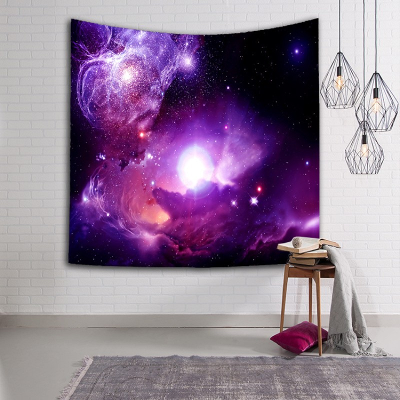 Milky Way And Star Pattern Beach Towel Washable Sun Protection Tapestry 3D Digital Printed Shawl Top Quality 16lsa B