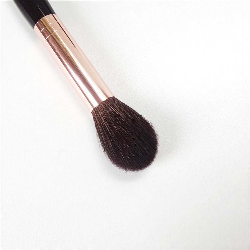 Charlotte_T Powder & Sculpt Brush -Squirrel Hair & Goat Hair Mix Soft Highlighter Sculpting Brush - Beauty Makeup Blender Tool