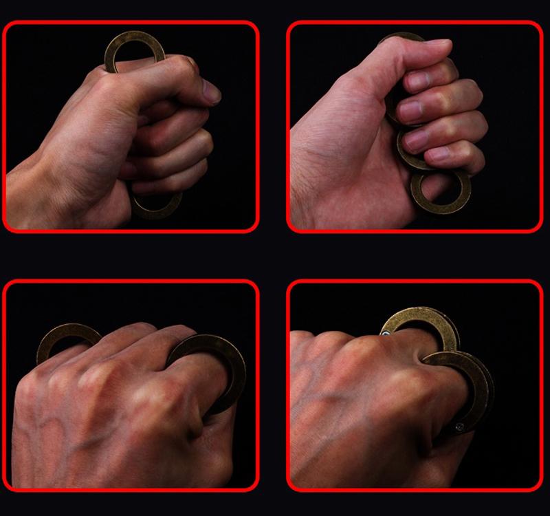 MAFIA CARDINAL REVENGE BUCKLE BRASS KNUCKLE DUSTER NEW Self-defense equipment Butterfly knife clutch knuckle knives self defense tool