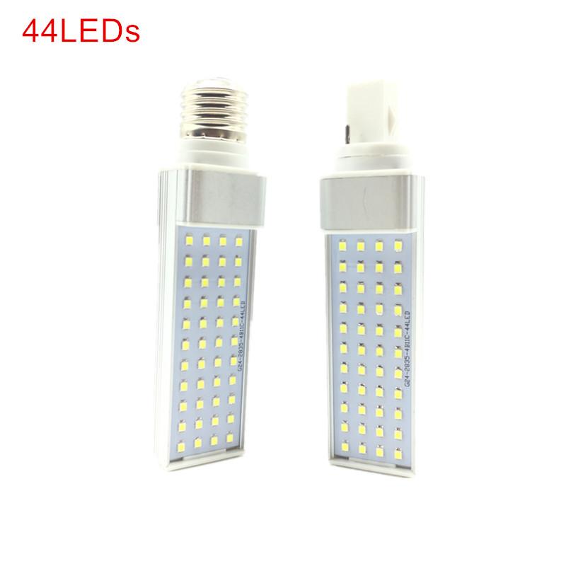 7W 9W 11W 13W 15W Led Bulbs Lights E27 G24 Led Horizontal Plug Corn Light AC 85-265V