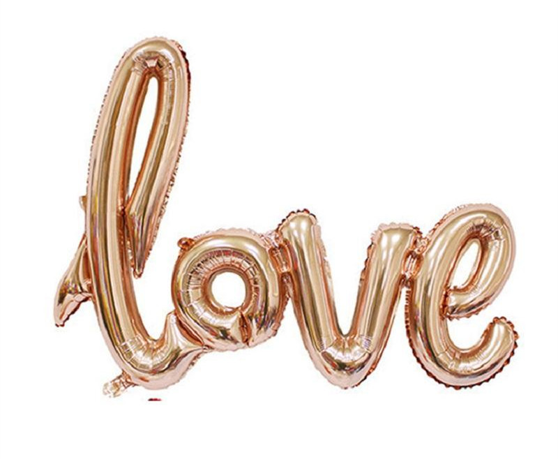 balloons fast delivery LOVE Alphabet air balloons Birthday Party Wedding Decoration Mylar Foil Balloon large Letter Balloons DIY 108*64cm
