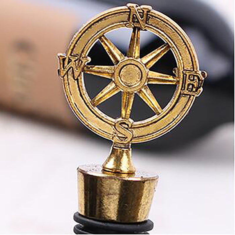 New Arrival Wedding Favors Rudder Wine Bottle Stopper Nautical Themed Compass Wedding Shower Favors Free DHL 80