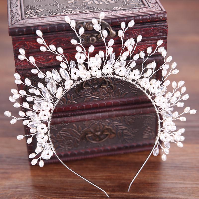 Luxury Crystal AB Bridal Crown Tiaras Light Gold Diadem Tiaras for Women Bride Wedding Hair Accessories